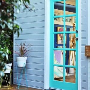 teal-door-artist-She-Shed-creative.popsugar